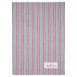 Asciugamano - tea towel Riley pale grey