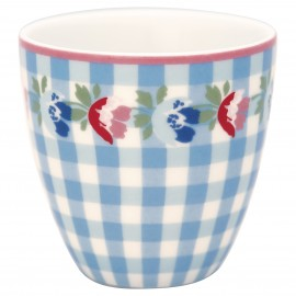 Tazzina da caffè - mili latte cup Viola check pale blue