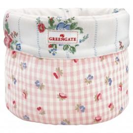 Cesto pane - Bread basket Viola check pale pink