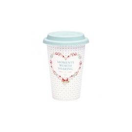Porcelain Travel Mug Abelone mint