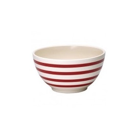 Serving bowl Stripe red