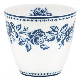 Latte cup Fleur blue
