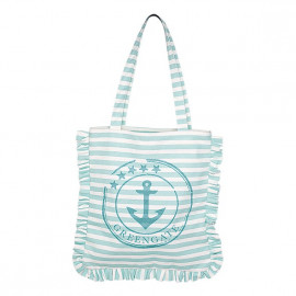 Canvas Tote Bag Ditte aqua