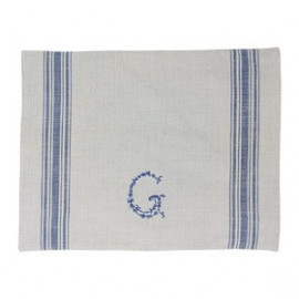 Placemat G blue warm grey 35x 45