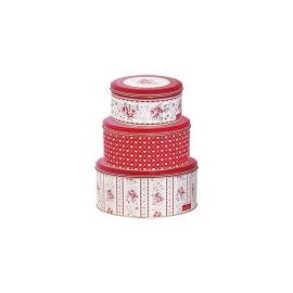 Tin Box Round Vilma set of 3pcs.
