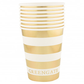 Cup Stripe gold 8pcs