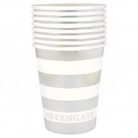 Cup Stripe silver 8 pcs
