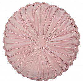 Cushion Round Pale pink w/RUFFLE 40x40
