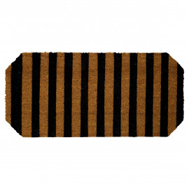 Doormat black w/stripe