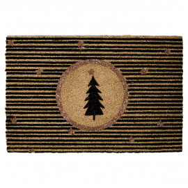 Doormat gold w/xmas tree