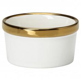 Ramekin gold rim