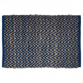 Rug Nora blue w/jute 60x90 cm