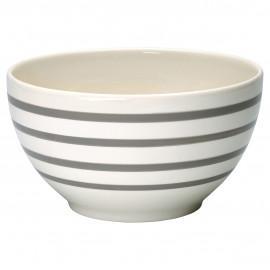 Serving bowl Stripe warm grey D: 24 cm