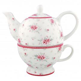 Tea for one Flora white