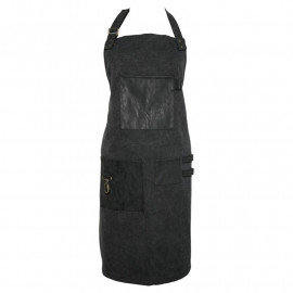Apron black w/metal trim