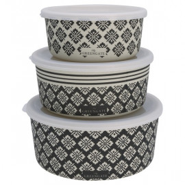 Round box Jackie dark grey set of 3