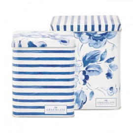Square box Amanda indigo set of 2 pcs