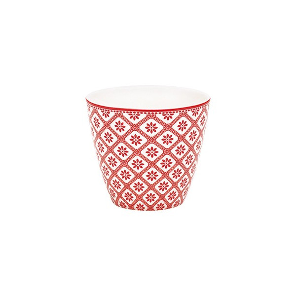Latte cup Bianca red