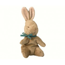 Baby Bunny brown blue ribbon