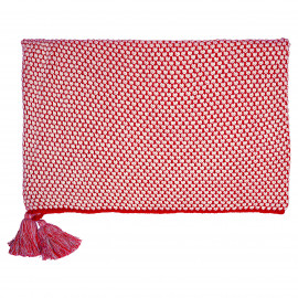Blanket knit Dot red 130X180cm
