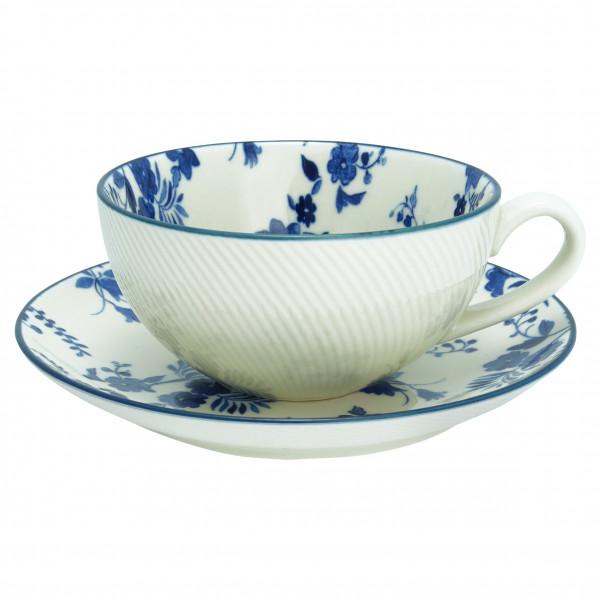 Cup & Saucer Vanessa blue