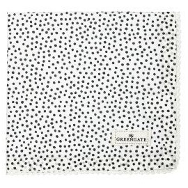 Napkin with lace Dot black