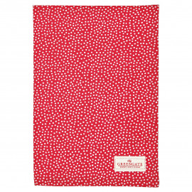 Tea towel Dot red