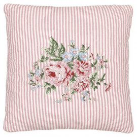Cushion Marley pale pink w/embroidery 40x40