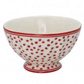 French Bowl medium Dot white