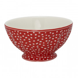 French Bowl xlarge Dot red