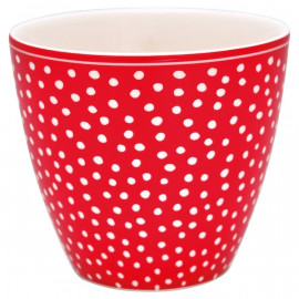 Latte Cup Dot red