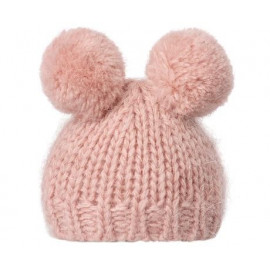 Best Friends Knitted Hat 2 pompom rose