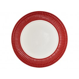 Dinner plate alice red