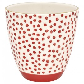 LATTE CUP SALLY DOT RED/GOLD