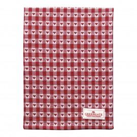 Asciugamano - Tea towel Heart red
