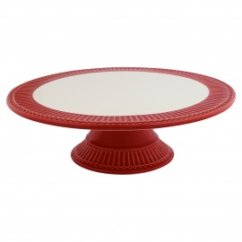 ALZATA CAKE PLATE ALICE RED