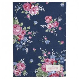 Asciugamano - Tea towel Rose dark blue