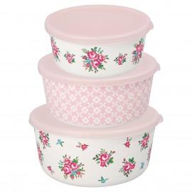 Round box Constance white set da 3 pz
