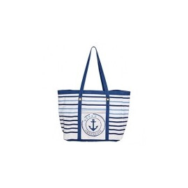 Canvas Beach Bag  Anchor Indigo