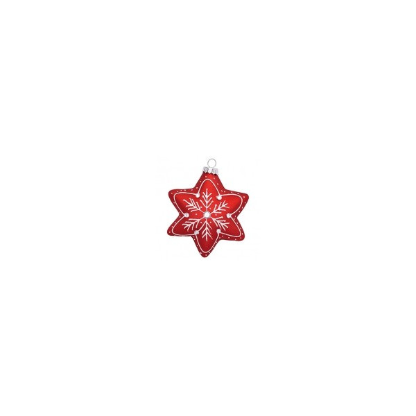 Star glass December Red