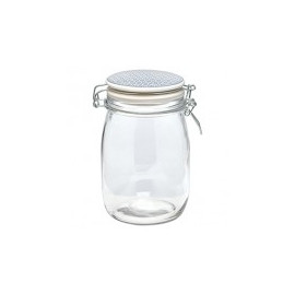 Glass Storage Jar Bianca Dusty Blue