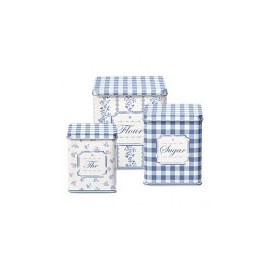 Tin Boxes square Audrey Indigo set 3 pz