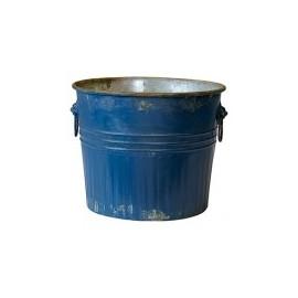 Bucket blue h 26cm