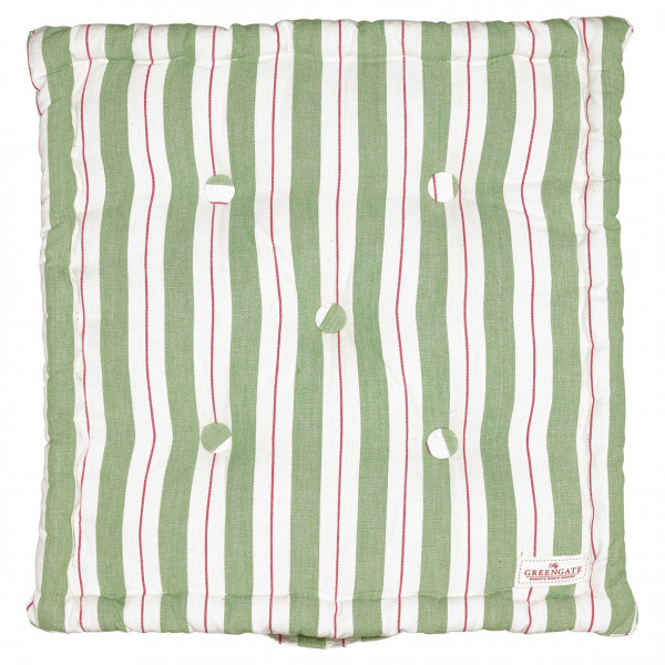 Box cushion Elinor green 40x40
