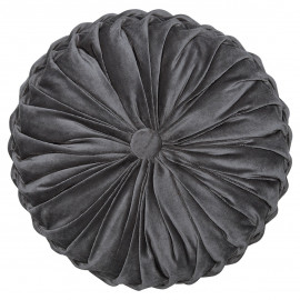 Cushion Round Pale grey w/RUFFLE 40x40