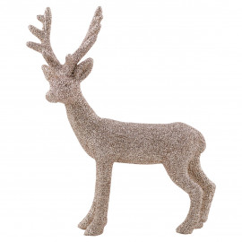 Reindeer resin champagne standing small