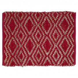 Rug Bianca red w/jute 60x90 cm