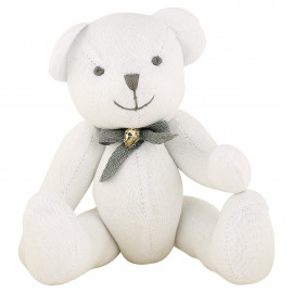Teddy white w/ribbon