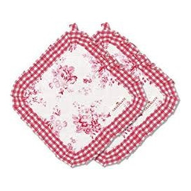 Pot holder Abelone raspberry set of 2 pcs