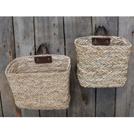 Braides baskets w. handle set of 2